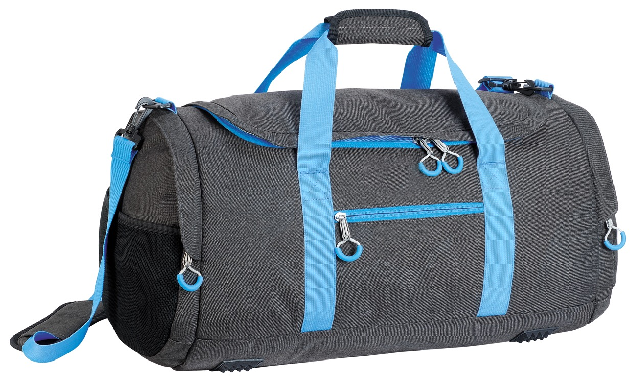 Melange fabric with TPE backing duffle travel bag in sporty style