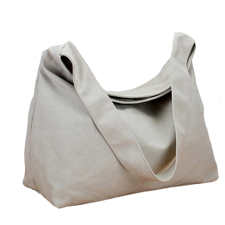 Recycled cotton 16oz canvas ladies' casual bag with shoulder strap