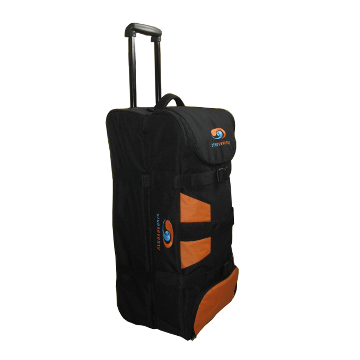 100% RPET hard sided two large main compartments sporty trolley bag