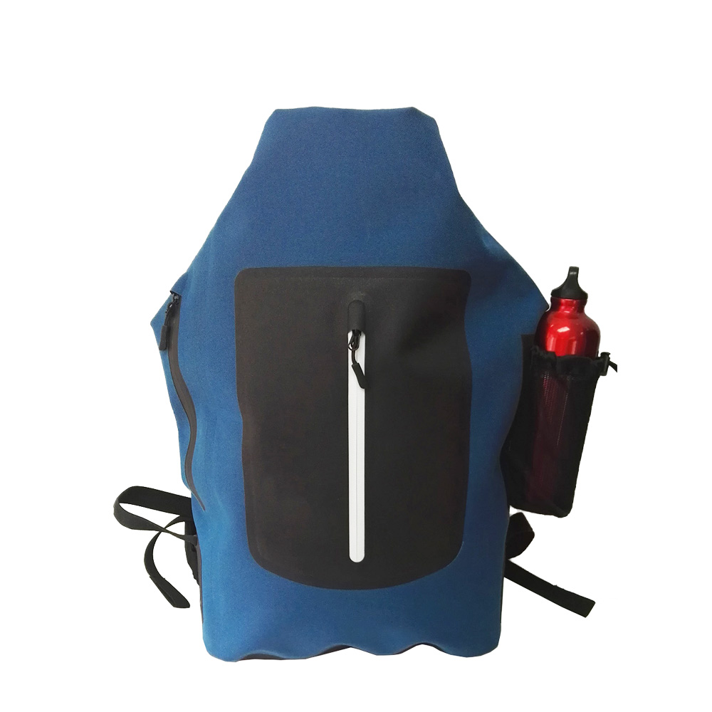 TPU laminated 600D waterproof backpack for water sports